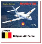 1-72-Dassault-Mystere-Falcon-20-Decals-Belgian-Air-Force