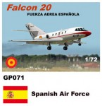 1-72-Dassault-Mystere-Falcon-20-Decals-Spanish-Air-Force