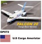 1-72-Dassault-Mystere-Falcon-20-Decals-U-S-Cargo-Ameristar