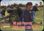 1-72-30-pdr-Parrott-Rifle-with-US-crew-ACW-American-Civil-War