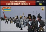 1-72-Austrian-Grenadiers-in-Winter-Dress-on-the-March-1-Napoleonic
