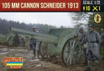 1-72-Canon-de-105-mle-1913-Schneider-with-French-Crew-WWI