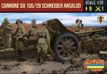 1-72-Cannone-da-105-28-Schneider-Ansaldo-with-Italian-Crew-WWII