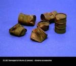 RARE-1-35-Damaged-Oil-Drums-6pcs-SALE