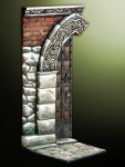 54mm-Middle-age-door-with-decorated-arch