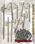 54mm-Medieval-Axes-Set--1-9-pieces