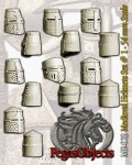 54mm-Medieval-Helmets-Set--1-7-pieces