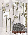 54mm-Medioeval-Axes-and-Hammers-set--2