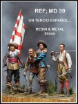 54mm-Spanish-Tercio-Four-Figures-individual-Bases-Resin-and-Metal-