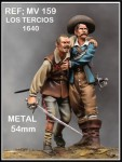 54mm-Tercio-wounded-and-Soldier