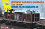 1-35-GERMAN-RAILWAY-GONDOLA-w-2cm-FLAKVIERLING-38