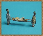1-72-Napoleonic-french-Inf-2-figs-carrying-Strechter