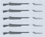 RARE-5-Rifles-and-5-unsheathed-bayonets-SALE