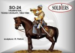 54mm-TEXAS-cavalry-trumpeter-mounted-figure-1862-64