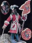 54mm-Guidon-Bearer-La-Reine-Dragoons-France-1704