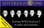 1-35-German-WWII-head-set-2-In-plain-steel-helmets