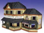 RARE-1-35-Normandy-Shops-Ceramic-Building-with-Addition-POSLEDNI-KUS
