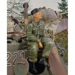1-35-Waffen-SS-Tanker-Sitting-on-Turret-WWII