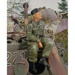 1-35-Waffen-SS-Tanker-Sitting-on-Turret-WWII