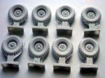 1-35-Wheel-set-Krupp-Protze-early-tyre-pattern-for-TAMIYA