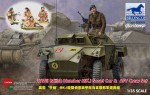 SALE-1-35-WWII-British-Humber-MK-I-Scout-Car-and-AFV-Crew-Set