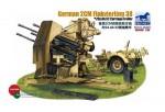 1-35-GERMAN-4x2cm-FLAKVIERLING-38-W-TRAILER