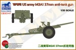 1-35-WWII-US-army-M3A1-37mm-anti-tank-gun