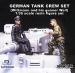 1-35-German-Tank-Crew-set-Wittmann-and-his-gunner-Woll