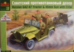 1-35-GAZ-67-Light-artillery-tractor-with-45mm-Gun-and-limber-with-Crew