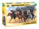 1-35-Soviet-WW2-Cossacks-four-figures-model-kit