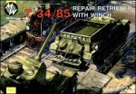 1-72-T-34-85-Soviet-WWII-repair-retriever-with-winch