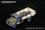 1-35-WWII-German-Opel-Blitz-3t-4x2-Cargo-Truck-Shallow-Cargo-Bay-For-TAMIYA-35291