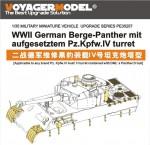 1-35-WWII-German-Berge-Panther-mit-aufgesetztem-Pz-Kpfw-IV-Turret-For-DRAGON-6340