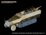 1-35-WWII-German-Sd-Kfz-251-Ausf-D-Side-Stowage-Bins-and-Fenders-For-DRAGON-Kit