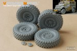 1-35-Modern-US-4X4-MRAP-MaxxPro-Armoered-Fighting-Vehicle-Road-Wheels-4PCES-For-KINETIC-K61011