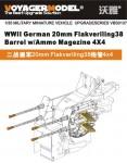 1-35-WWII-German-20mm-Flakveriling38-Barrel-w-Ammo-Magezine-4X4-For-all