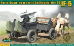 RARE-1-72-IF-5-horse-drawn-wagon-Type-36-with-Zwillingslafette-36
