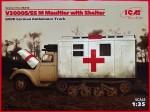 1-35-V3000S-SS-M-Maultier-w-Shelter-German-Truck