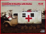 1-35-V3000S-SS-M-Maultier-w-Shelter-German-Truck
