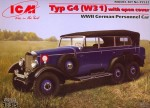 1-35-Typ-G4-W31-with-open-cover-WWII-German-passenger-car