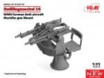 1-35-Zwillingssockel-36-German-WWII-AA-MG-Mount