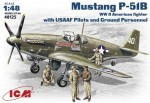 1-48-Mustang-P-51B-WWII-American-fighter-with-USAAF-Pilots-a-Ground-Personnel