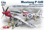 1-48-Mustang-P-51D-WWII-American-fighter-with-USAAF-Pilots-and-Ground-Personnel