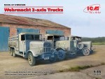 1-35-Wehrmacht-3-axle-Trucks-DIORAMA-SET-3-kits-Henschel-33D1-Krupp-L3H163-LG3000