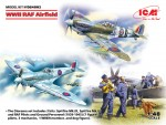 1-48-RAF-WWII-Airfield-2x-kits-and-7-figures