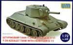 1-72-T-34-Assault-tank-with-howitzer-U-11