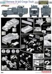 1-35-German-3t-4x2-Cargo-Truck-Opel-Blitz-w-2cm-Flak-38