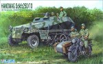 1-76-Hanomag-Sd-Kfz-250-10-with-B-M-W-Sidecar-and-6-Soldiers