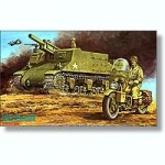 1-76-U-S-Army-M7-B1-105mm-Gun+Includes-a-motorcycle-plus-two-figures