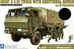 1-72-JGSDF-3-1-2t-Truck-Armor-Reinforced-Type-w-6pcs-Figures